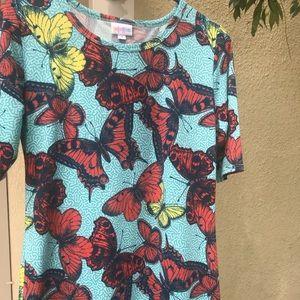 LULAROE Butterflies dress size Medium EUC